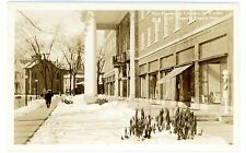 Kingston NY - THE GOVERNOR CLINTON HOTEL IN WINTER- RPPC Postcard Barber Pole