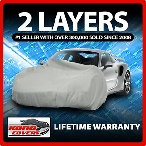 2 Layer Car Cover - Soft Breathable Dust Proof Sun UV Water Indoor Outdoor 2221