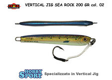 VERTICAL JIG SEA ROCK 200 GR SJ 02 DORATO DORSO BLUE CON ASSIST HOOK