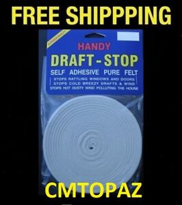 HANDY DRAFT STOP PURE FELT SELF ADHESIVE - FREE SHIPPING