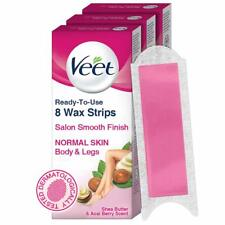 Veet Half Body Waxing Kit for Normal Skin 8 Strips Pack of 3 Free Shipping