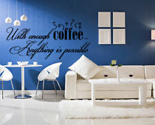 Wall Vinyl Sticker Bedroom Decal coffee quote lettering words kitchen art bo2609