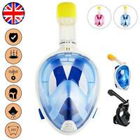 Anti Fog Full Face Diving Mask Snorkel Scuba Swimming Goggles Adult For GoPro UK