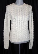 Ralph Lauren Polo Women's Cable Knit Paige Sweater Ivory NWT $198 Medium