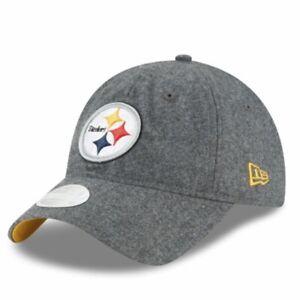 Pittsburgh Steelers New Era 9Twenty Women's Melton Wool Strapback Cap Hat $24