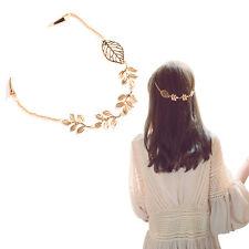 Fashion Women Hollow Leaf Metal Head Chain Jewelry Headband Head Piece Hair Band
