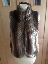 LOVELY ECOTE BROWN FAUX FUR GILET UK SIZE S BNWT RRP £85