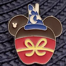 New listing Disney Trading Pin Sorcerer Mickey Hidden Mickey Candy Apple Food Fantasia Mouse