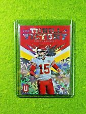 PATRICK MAHOMES PRIZM CARD JERSEY #15 CHIEFS SP #/75 REFRACTOR 2019 Unparalleled
