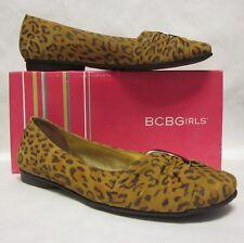 BCBG Gicely Leopard Round Toe Flat - size 9