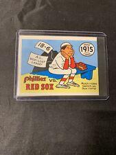 1968 Fleer Laughlin 1915 World Series Card #12 Phillies v Babe Ruth Red Sox VGEX