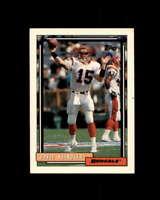 David Klingler Rookie Card 1992 Topps #694 Cincinnati Bengals