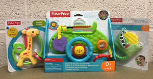 FISHER PRICE BABY GIFT BUNDLE TOY DASHBOARD/ TEETHER/ RATTLE