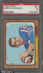 1966 Topps Football #27 Daryle Lamonica Buffalo Bills PSA 5 EX