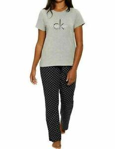 Calvin Klein Womens 2-Piece Top Pant Sleepwear Pajama Set