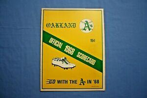 1968 Oakland Athletics Scorecard vs. Baltimore Orioles lineup written in ex