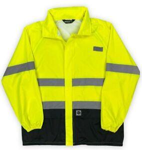 Buffalo Outdoors® Class 2 Hi Vis Safety Hooded Rain Shell
