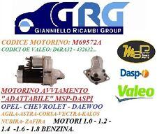 MOTORINO AVVIAMENTO MSP-DASPI OPEL AGILA-CORSA.1.0-1.2-1.4-1.6..BENZ CHEVROLET..