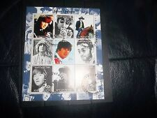 THE BEATLES JOHN LENNON 2000 STAMP SET OF 9 MIN STAMPS FROM KYRGYZSTAN AWESOME