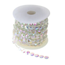 Iridescent Crystal Beads Strand Ribbon, 1/2-Inch, 15-Yard, Clear