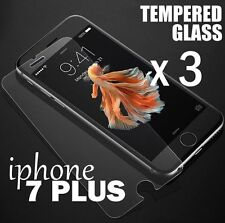 3 x Pieces Tempered Glass 0.26mm HD Clear Screen Protector Guard- iPHONE 7+ PLUS