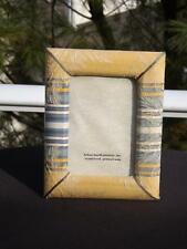 NWOT Helene Batoff Gold Floral Damask Fabric 3.5x5 Tabletop Picture Frame