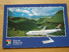 airline issue aircraft postcard SAA boeing 747