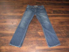 BKE Buckle Jeans Wendi Size 33 x 33 1/2 Boot Cut Denim Thick Stitch Blue PERFECT