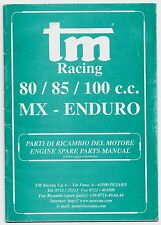 TM RACING 80-85-100c MX-Enduro catalogo parti ricambio motore engine spare parts