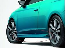 GENUINE SEAT LEON SC 3 DOOR ACCESSORY CANDY WHITE PAINTED SIDE SKIRTS SET