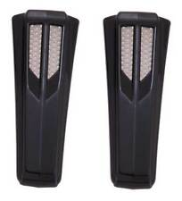 Ciro Upper Fork Tin Accents, All H-D FL Models, Sold in Pairs - Black 43011