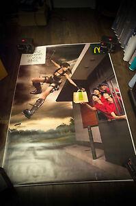 LARA CROFT RARE MAC DONALD'S 4x6 ft Bus Shelter Original Advertising Poster