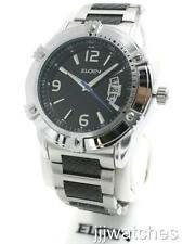 New Elgin Men Steel Two Tone Dodecagon Date Watch 47mm FG7095
