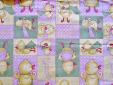 "Pack N Play Cover Large (26X38"") Cotton- Debbie Mumm Print/Super Chick Patchwork"