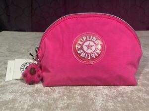 Kipling Zadok Flashy Pink Glitter Cosmetic School Pouch Zipper Case Bag
