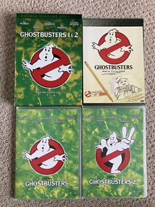 Ghostbusters 1 & 2 DVD Collection Double Feature W/ Slipcase & Movie Scrapbook