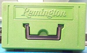 VTG  Original Remington Green Plastic Ammo Storage Box w Handle