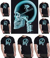 Mens ORGANIC Cotton TShirt Extreme Sports On The Brain X-Ray *Choose Discipline*