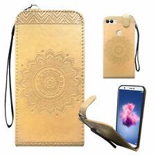 Huawei Handy Tasche Handyhülle Schutz Hülle Mandala Flip Cover Buch Case Etui