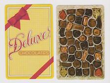 CHOCOLATES - YUM X 2 ONLY SINGLE VINTAGE .PLAYING/SWAPCARDS..HALLMARK DESIGN