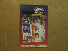 NHL Winnipeg Jets Vintage Circa 1995-96 Logo Hockey Pocket Schedule
