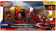 POWER RANGERS SUPER MEGAFORCE DELUXE DX WILD FORCE RED LION ZORD WITH KEY