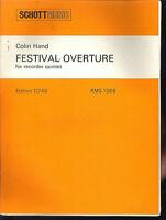 "Colin Hand  "" FESTIVAL OUVERTURE "" für Blockflöten Ensemble"