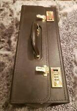 Vintage Large Oversized Leather PRESTO Brief Case Attache Legal Case Dark Brown