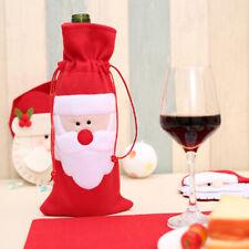 Red Wine Bottle Cover Bags Snowman Santa Claus Christmas Decoration Xmas Sequi T