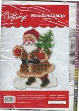 New Woodland Santa Latch Hook Kit by Craftways