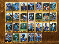 1987 KANSAS CITY ROYALS Topps COMPLETE Baseball Team SET 26 Cards BRETT JACKSON!