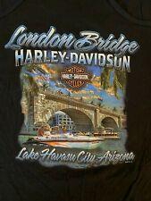 HARLEY DAVIDSON Black Racer Back Tank Top 3XL London Bridge Lake Havasu Arizona