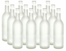 750 ml Clear Frosted Glass Bordeaux Bottles, 12 per case For Wine Making