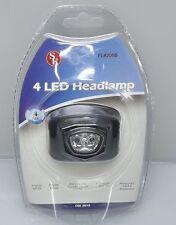 4 LED HEADLAMP WITH STRAPS 2 FUNCTION NEW FL8205B burning man